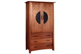 Kyoto Armoire in Walnut with Black Zinc Pulls
