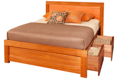 Soho Storage Bed in Ribbon Mahogany