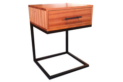C-Table Nightstand in Ribbon Mahogany