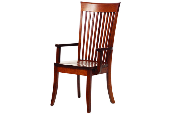 English Shaker Arm Chair in Quarter-Sawn White Oak with Classic White Oak Finish
