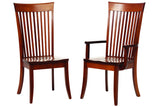 English Shaker Dining Chairs in Quarter-Sawn White Oak with Classic White Oak Finish