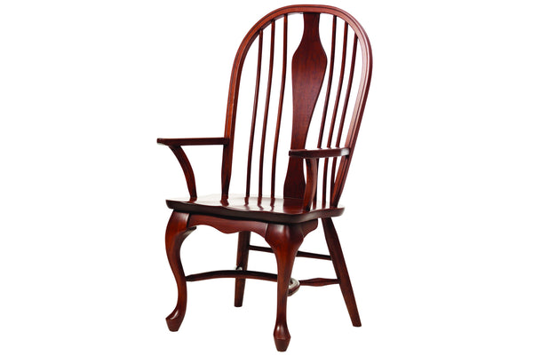 Queen Victoria Spindle Arm Chair in Cherry with Rich Finish