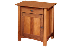 Mackintosh Nightstand with 1 Drawer and Cabinet in Cherry