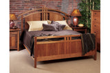 McKinnon Bedroom with Bed and Dresser in Cherry and Bedside Tables in Walnut