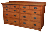 California Mission 10-Drawer Dresser