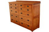 California Mission 12-Drawer Dresser