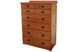 California Mission 7-Drawer Chest with Seven Drawers