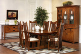 New Classic Mission Dining Set in Quarter-Sawn White Oak with Classic White Oak Finish