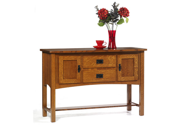 New Classic Mission Sideboard in Quarter-Sawn White Oak with Classic White Oak Finish