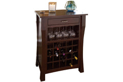Newport Wine Cabinet in solid maple with Espresso finish