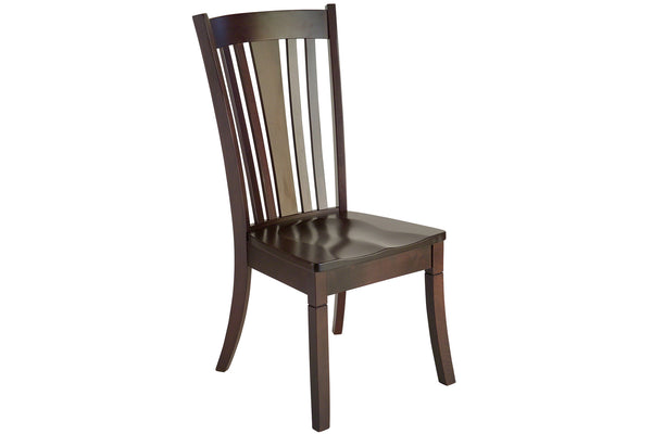 Newport side dining chair in Maple with Espresso finish
