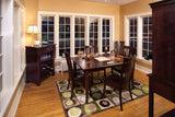 Newport dining set in Maple with Espresso finish