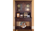 Newport China Cabinet with Hutch in Maple with Espresso finish