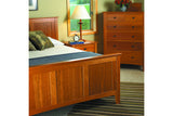 Newport Bed with Panel Style Headboard and Footboard in Cherry with Natural Finish