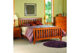 Newport Bedroom Set in Cherry with Natural Finish