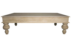 Reclaimed Lumber Coffee Table in Gray Wash Wax Finish