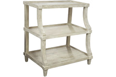 Reclaimed Lumber Display Console Table in Gray Wash Wax Finish