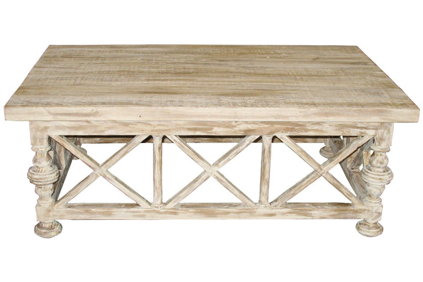 Reclaimed X Panel Coffee Table