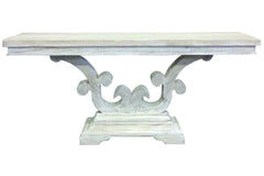 Albatros Console Table in Gray Wash Wax Finish