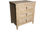Valdez Nightstand in Gray Wash Wax Finish