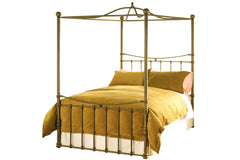 Dionis Canopy Bed in Aged Brass Finish