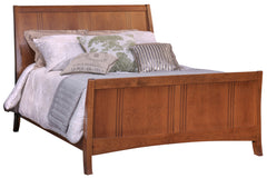 Great Lakes Sleigh Bed with High Footboard