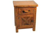 Barn Door Nightstand with Left Hinge