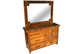 Barn Door Dresser with Mirror