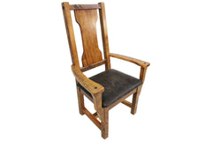 Landon Arm Chair with Colt Faux Leather Seat