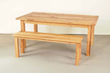 Saltwoods Old Oak Andover Farm Table with Matching Bench
