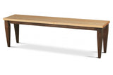 Ashland Bench with Espresso Base and Natural Top