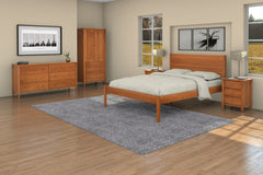 Shaker Bedroom Set in Cherry with Shaker Eclipse Bed, Armoire, Two 3-Drawer Nightstands, and 6-Drawer Dresser