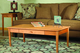 Shaker Narrow End Table in Cherry with Natural Finish with Matching Coffee Table