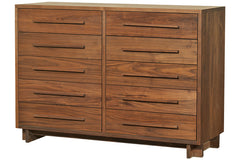 Skyline 10-Drawer Dresser in 100% Walnut