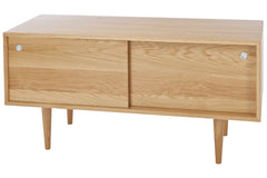 Classic Small Credenza in White Oak