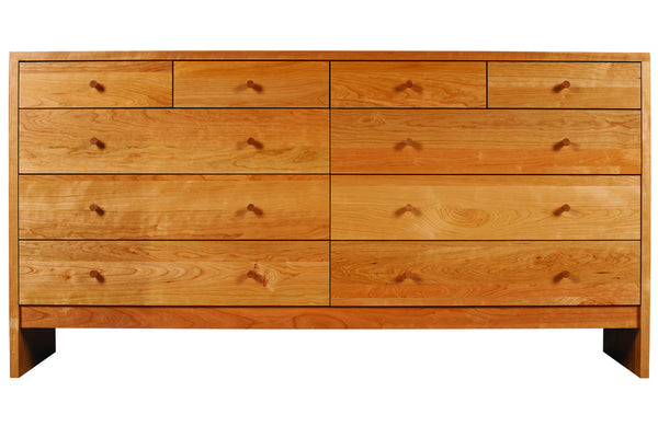 Somerset 10-drawer in Cherry with Natural Finish