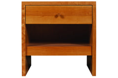 20-Inch Wide Somerset Bedside Table in Cherry with Natural Finish