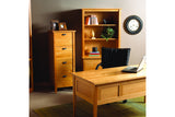 Preston Desk with Office Set in Cherry with Natural Finish