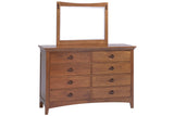 Great Lakes 8-Drawer Dresser with Landscape Mirror