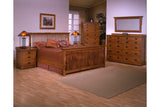 Mission Bedroom Set with 12-Drawer Dresser and Landscape Mirror