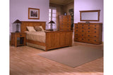 California Mission Bedroom Set with Panel Bed