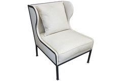 Classic Allende Chair in Cappuccino Fabric