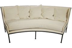 Allende Curved Sofa in Canvas Fabric