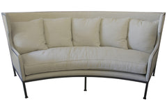 Franz Curved Sofa in Pearl Fabric