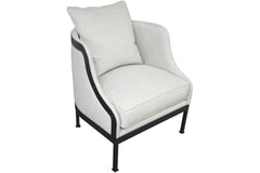 Lotus Chair in Pearl Fabric
