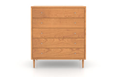 Larssen Midcentury Chest with Five Drawers in Cherry