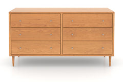 Larssen Midcentury Dresser with Six Drawers in Cherry