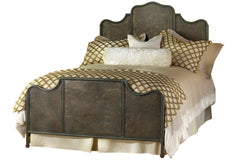 Monomoy Bed in Textured Copper Moss
