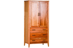 Luna Armoire in Cherry with Natural Finish