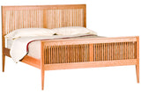 Luna Heritage Bed in Cherry with a Natural Finish and Cherry Spindles